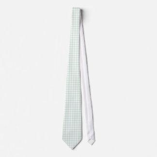 Mint Green Gingham Pattern Ties For Men