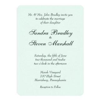 Mint Green Wedding Invitation