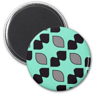 Mint Moustache 6 Cm Round Magnet