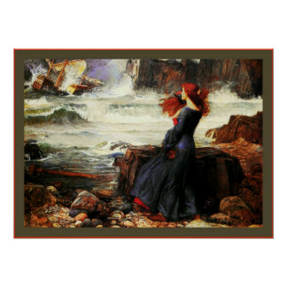 Miranda ~ The Tempest John W. Waterhouse Poster