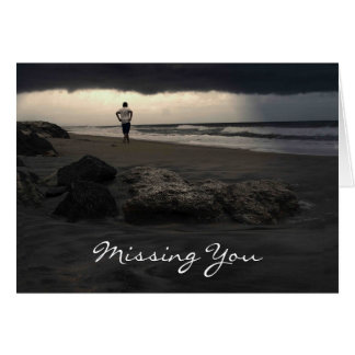 Missing You Beach Greeting Cards