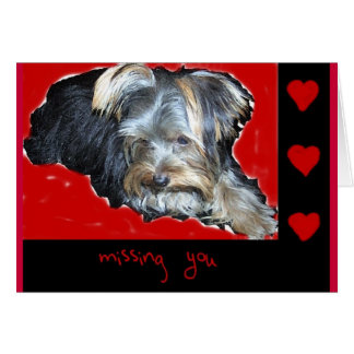 Missing You (greeting card) Greeting Card