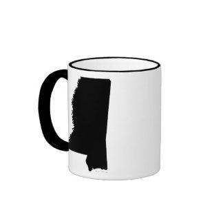 Mississippi in Black and White Ringer Mug