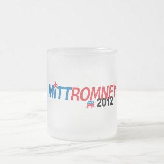 Mitt Romney 2012 Frosted Glass Mug