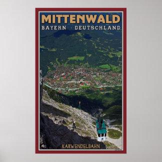 Mittenwald and the Karwendelbahn Poster