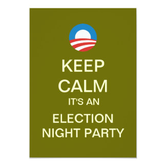 Mod Obama Election Night Party Invitations