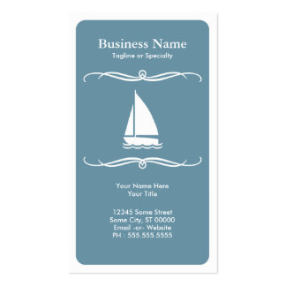 mod travel (sail boat) pack of standard business cards