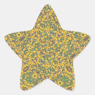 Modern Abstract Ornate Pattern Star Sticker
