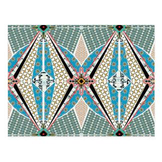 Modern Africa Pattern Postcard