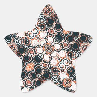 Modern Arabesque Pattern Print Star Sticker