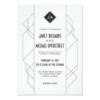Modern Art Deco 13 Cm X 18 Cm Invitation Card