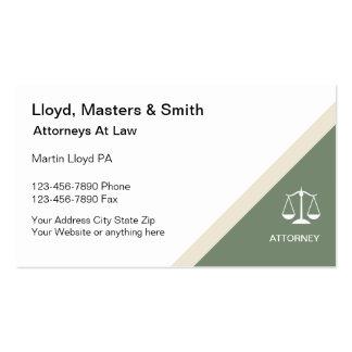 Modern Attorney Business Cards