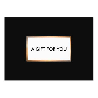 Modern Black and Gold Gift Card Pack Of Chubby Business Cards
