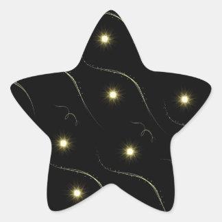 Modern Black And Gold Shooting Stars Star Sticker