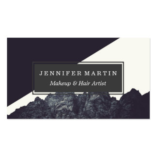 Modern Black and White Rocky Mountain Art Pack Of Standard Business Cards
