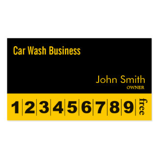 Modern Black Car Wash Business Loyalty Card Pack Of Standard Business Cards