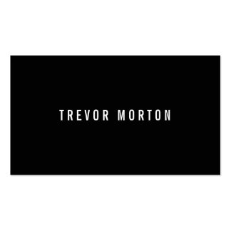 Modern black simple generic professional pack of standard business cards