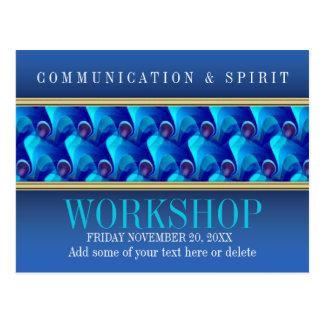 Modern Blue Business Workshop Invitation template Postcard