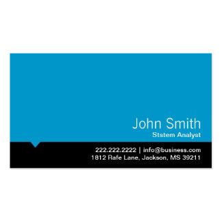Modern Blue System Analyst Business Card