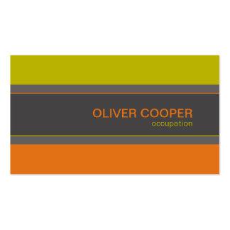 Modern business card Retro colors orange green