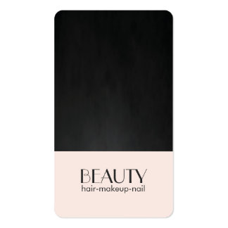 Modern Chic Pale Pink Texture Black Beauty Hair Pack Of Standard Business Cards
