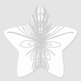 Modern Cursive Embroidery 7 Star Sticker