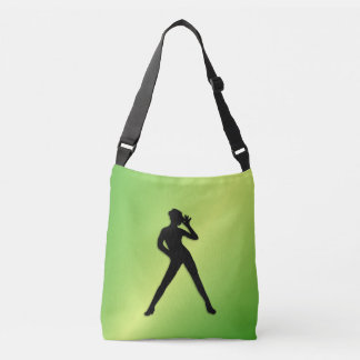 Modern Dance Green Tote Bag