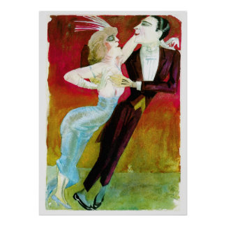 Modern Dancing Couple by Otto Dix Poster
