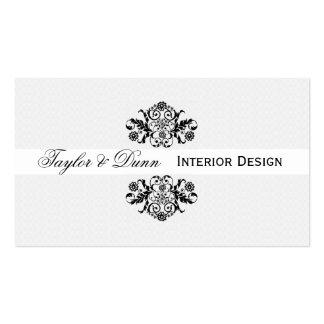 Modern | Elegant  Black White Ornamental Logo Pack Of Standard Business Cards