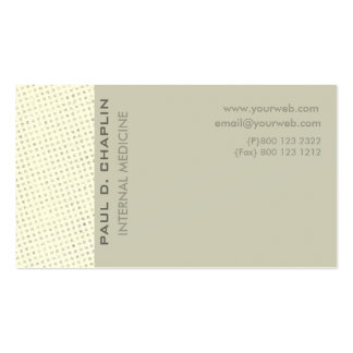 Modern Elegant Charming Cutting Edge Pale Colors Pack Of Standard Business Cards