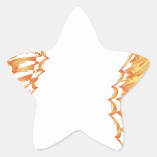 Modern Fire Star Sticker