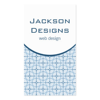 Modern Flair Business Card, Blue Pack Of Standard Business Cards