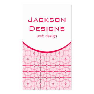 Modern Flair Business Card, Pink Pack Of Standard Business Cards