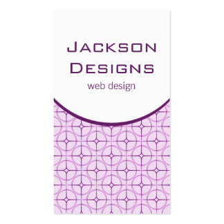 Modern Flair Business Card, Purple Pack Of Standard Business Cards