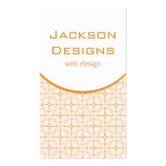 Modern Flair Business Card, Tangerine Pack Of Standard Business Cards