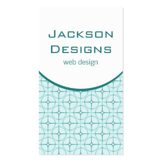 Modern Flair Business Card, Teal Pack Of Standard Business Cards