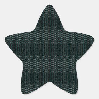 Modern flowers pattern star sticker