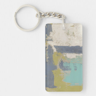 Modern Free Expression Painting Double-Sided Rectangular Acrylic Key Ring