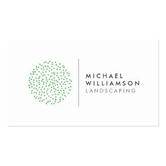 Modern Gardener Landscaping Logo on White Pack Of Standard Business Cards