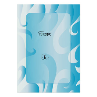 Modern Gift Tag With Curls Pack Of Chubby Business Cards