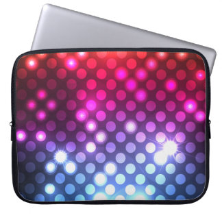 "Modern Girly Glitter Lights Laptop Sleeve 15"""