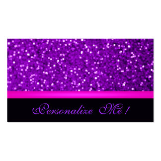 Modern Girly Purple Pink Sparkle Glitter Elegant Pack Of Standard Business Cards