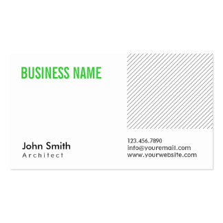 Modern Green Title Architect Business Card