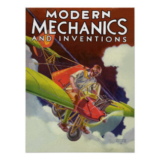 Modern Mechanics and Inventions 1936 Poster