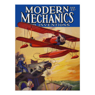 Modern Mechanics and Inventions Poster