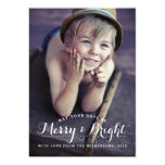 Modern Merry & Bright Holiday Two Photo Card 13 Cm X 18 Cm Invitation Card