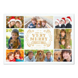 Modern Merry Christmas Collage Holidays Photo Card 13 Cm X 18 Cm Invitation Card