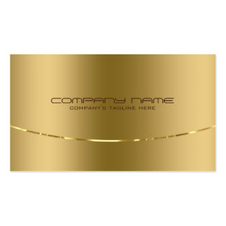 Modern Metallic Gold Design Stainless Steel Look Pack Of Standard Business Cards