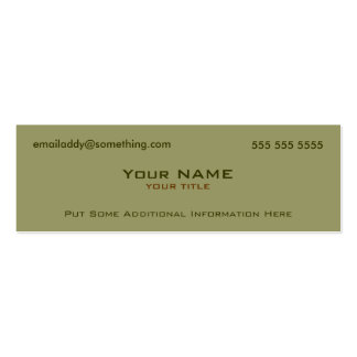 Modern Military Green Pack Of Skinny Business Cards
