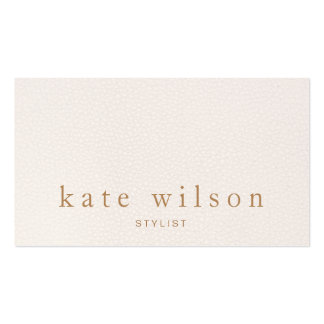 Modern Minimalist Blush Pink Leather Professional Pack Of Standard Business Cards